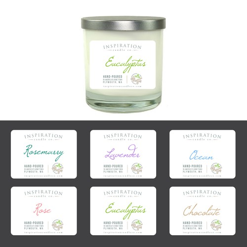packaging label soy candle