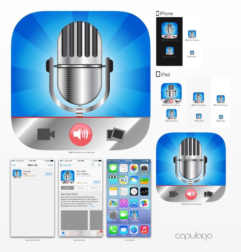 Create a voice commenting and content sharing app icon
