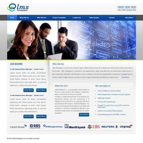 Design a Website for a Financial Technology Consulting Firm