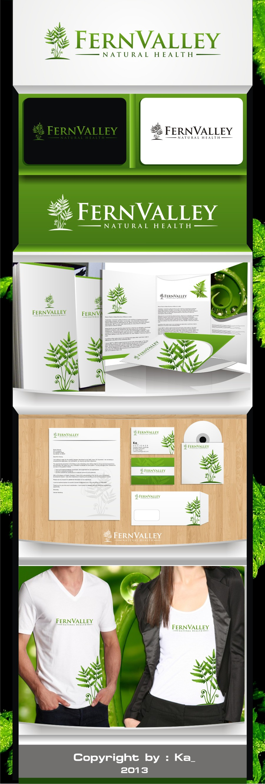 Create the next logo for Fern Valley Natural Health