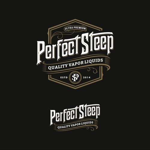 Logo proposal for Perfect Steep, e-juice.