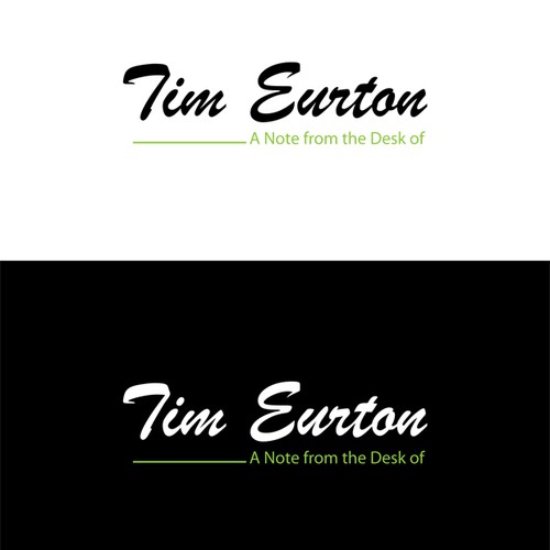 Create personal Stationary for Tim Eurton