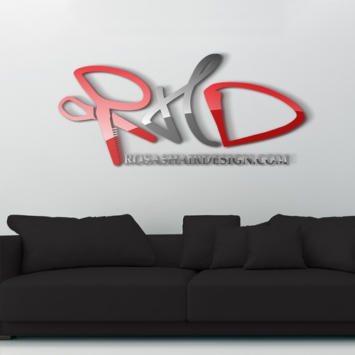 create a winning logo to Rosashairdesign.com