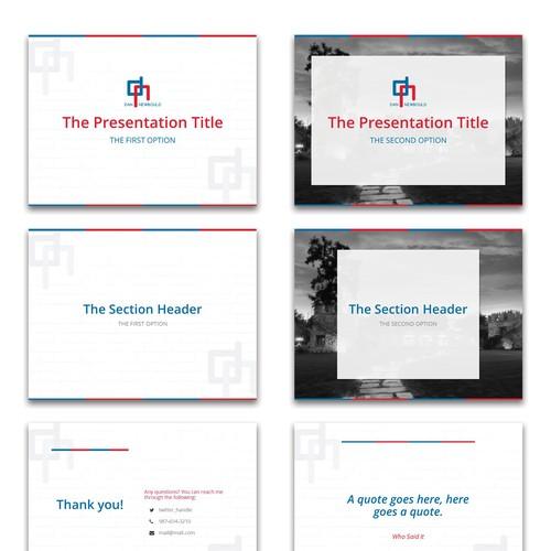 Presentation Template Design for a Real Estate Company
