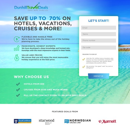 Travel Company Landing page