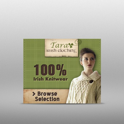 Banner ads for Tara Irish Clothing