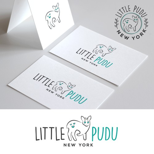 Baby and kids clothing logo Little Pudu New York