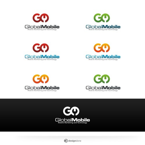 Global Mobile Logo Design