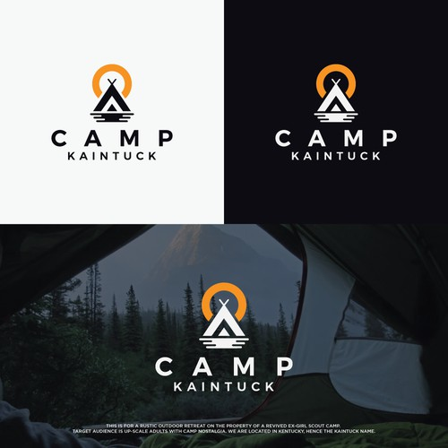 Logo concept for outdoor retreat.