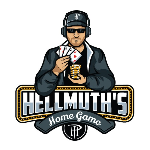 Poker Brand logo featuring legendary poker player Phil Hellmuth