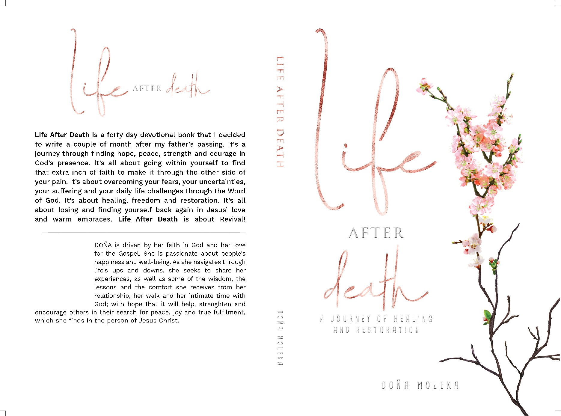 Create a Book cover for a devotional book that seeks to bring hope and peace