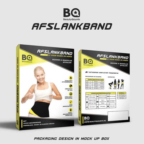 Packaging Design for BeautyQounts Slimming Belt