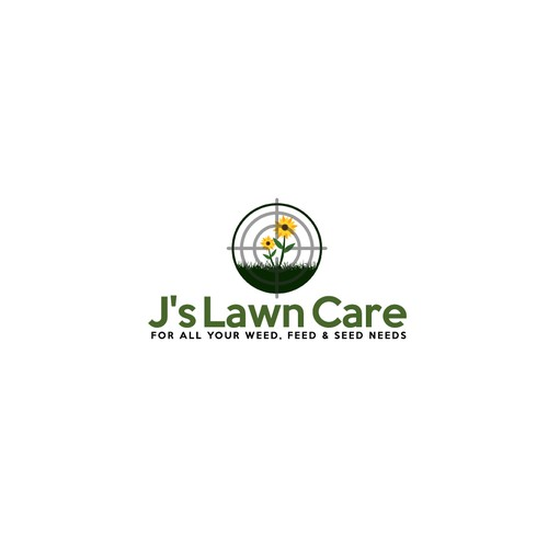 Bold logo for lawn services