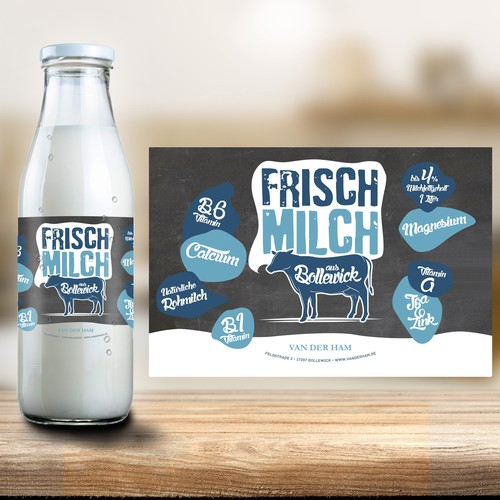 Bottle Label Fresh Milk