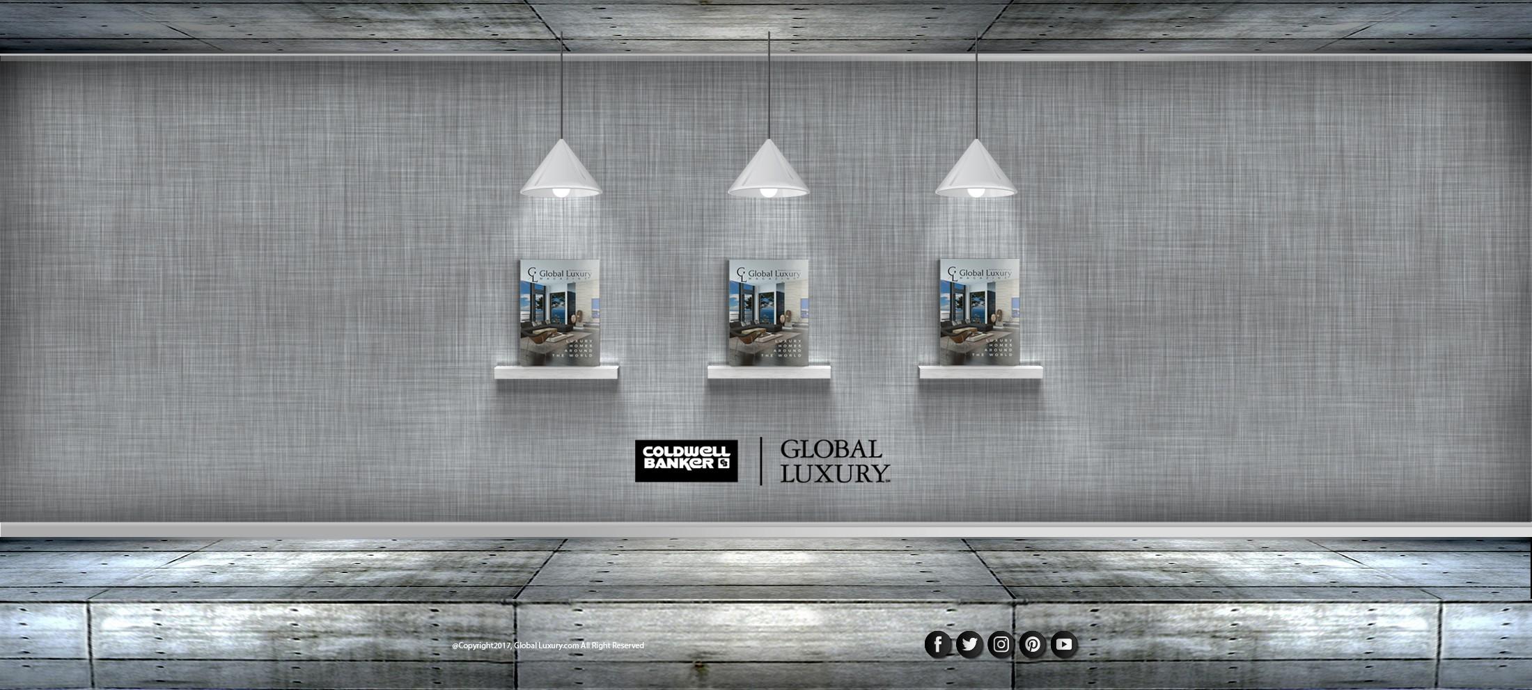 Global Luxury Magazine Home page magazine rack