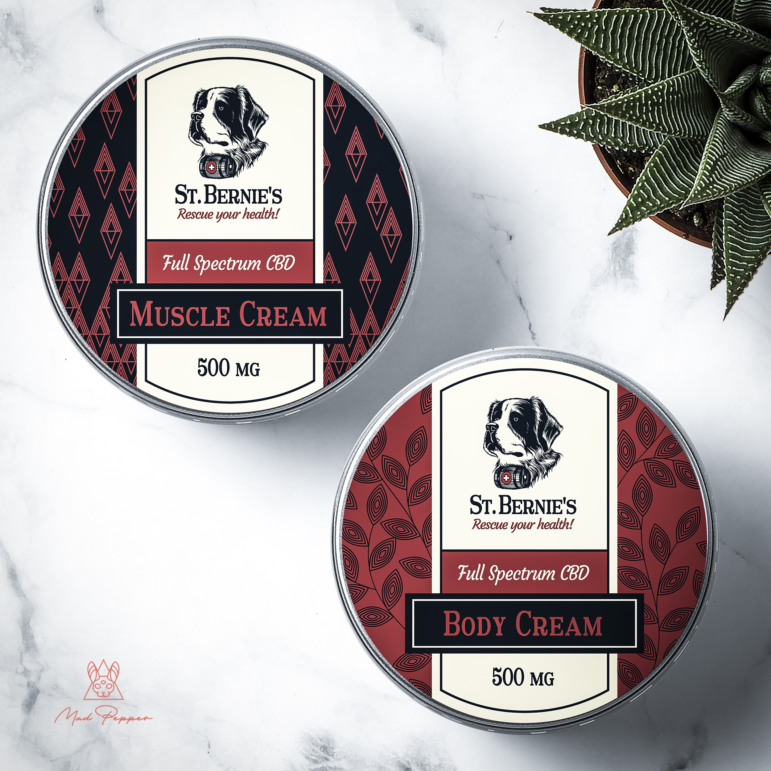 Tin and tincture bottle labels