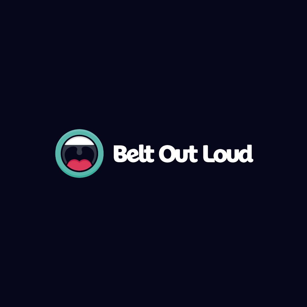 Belt Out Loud - Playful Mouth Marketing Logo