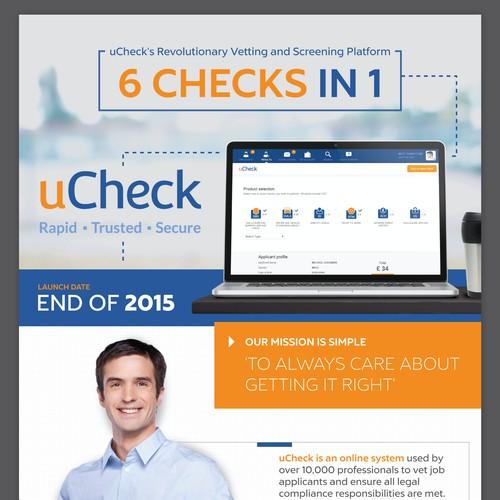 uCheck Flyer Design