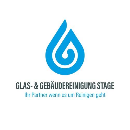 German cleaning business logo design