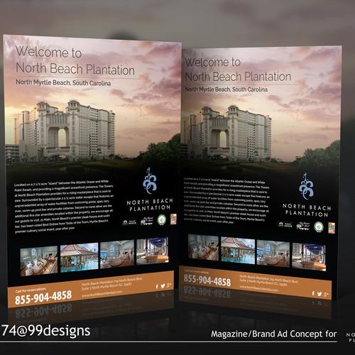 A Magazine/Brand Ad Concept, North Beach Plantation, A Resort In North Myrtle Beach, SC