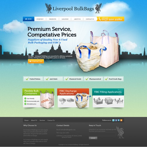 Creative and Captivating Website for Liverpool BulkBags