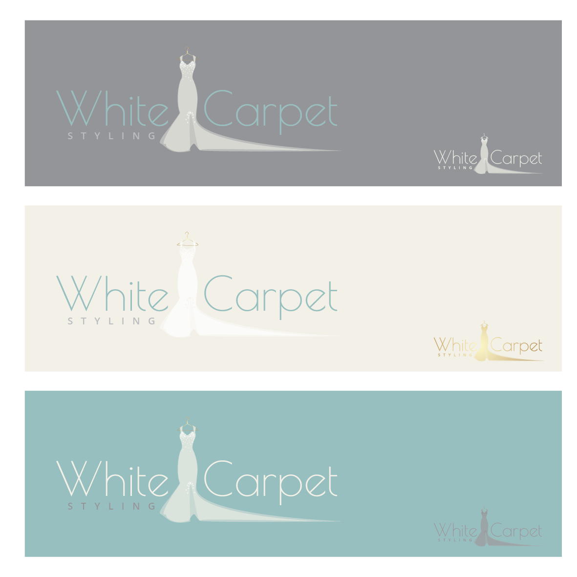 create a simple yet unique, feminine, shabby chic, memorable illustration for White Carpet Styling