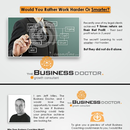 postcard or flyer for The Business Doctor