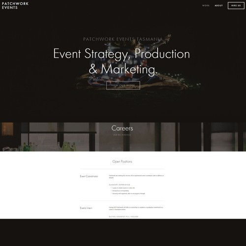 Event Management Company Website
