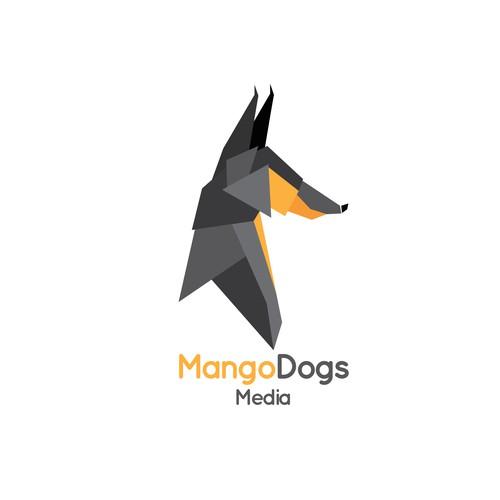 Geometric logo for dog training DVD company