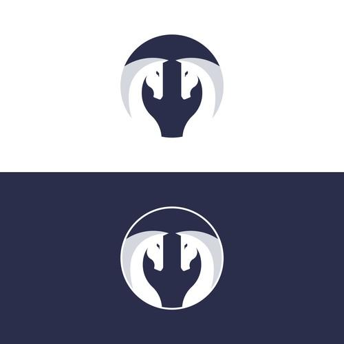 Modern family crest logo