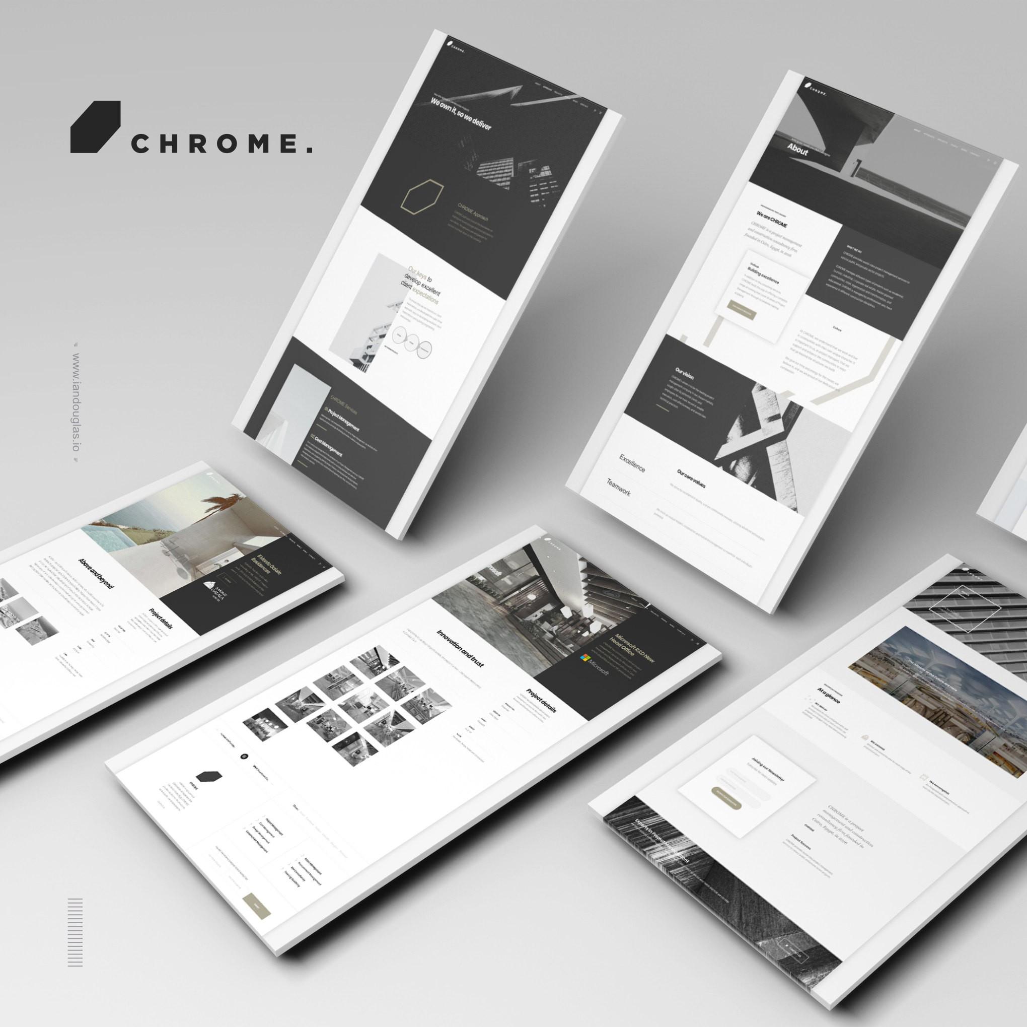Web design and development, art direction for Chrome