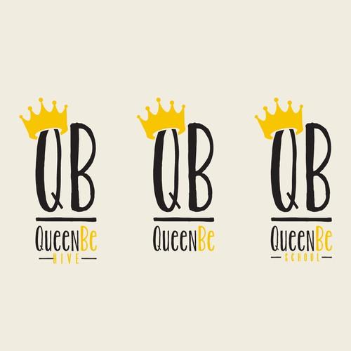 QueenBe logo design