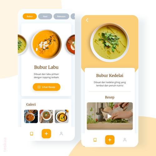 Food Recipes App Design
