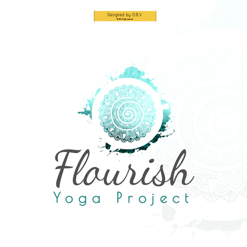 Logo and business card for Flourish Yoga Project