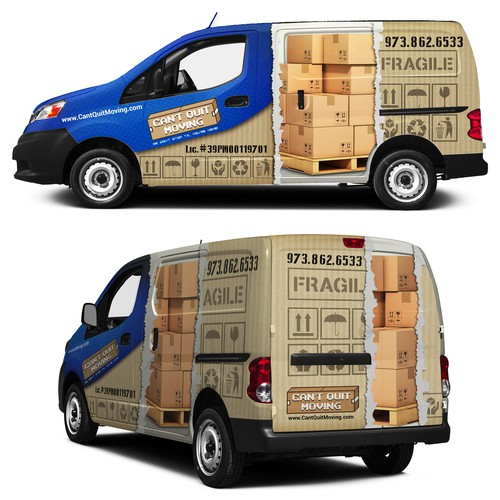 Moving Company Van like a BOX