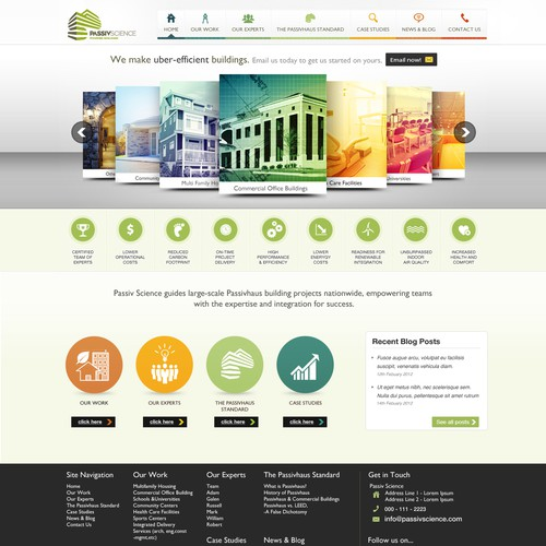 website design for Passiv Science