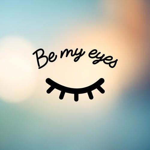 Be my eyes Concept Logo (Closed eye)