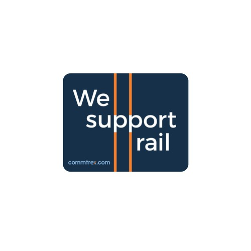 A sticker for the largest online marketplace for the US/Canada railroad industry
