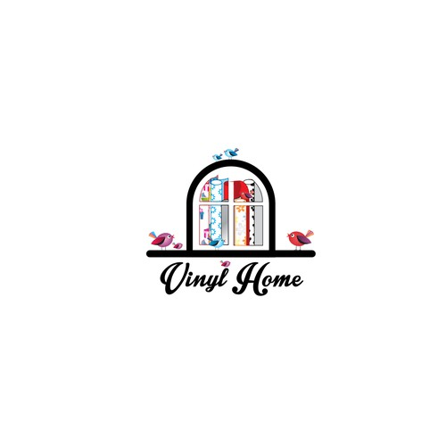 Impress us with playful colours and innovative design. Vinyl Home needs a trendy logo!