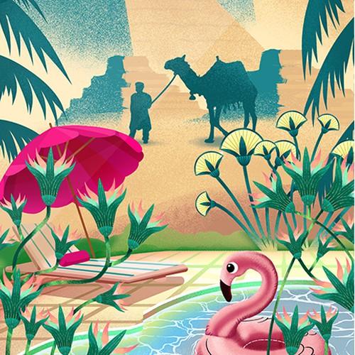 Modern Vintage Surreal Illustration