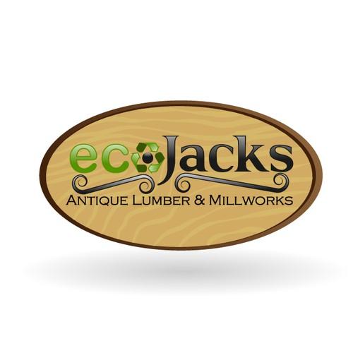 ecoJacks antique lumber & millworks needs a new logo
