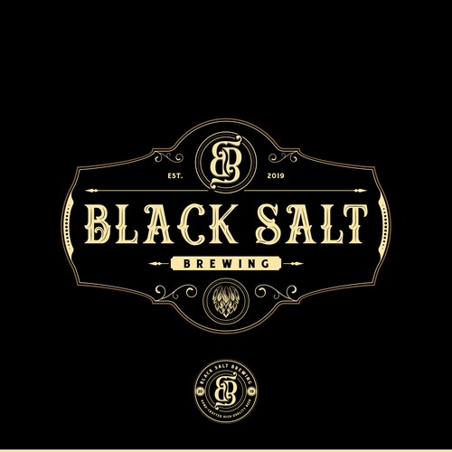 Brewery Logo Design for Black Salt Brewing