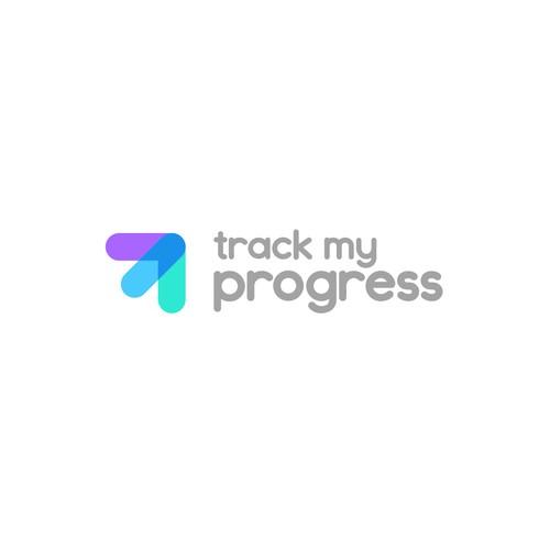 Stunning logo for educational web application Track My Progress