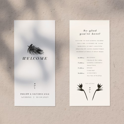 Wedding Welcome Cards