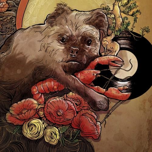 dog art nouveau