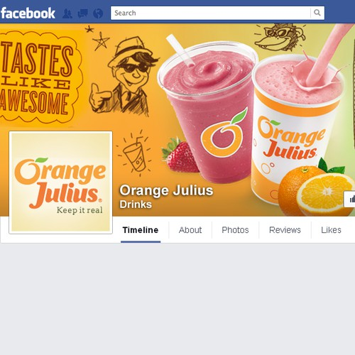 Create a fun Orange Julius Smoothie Store design