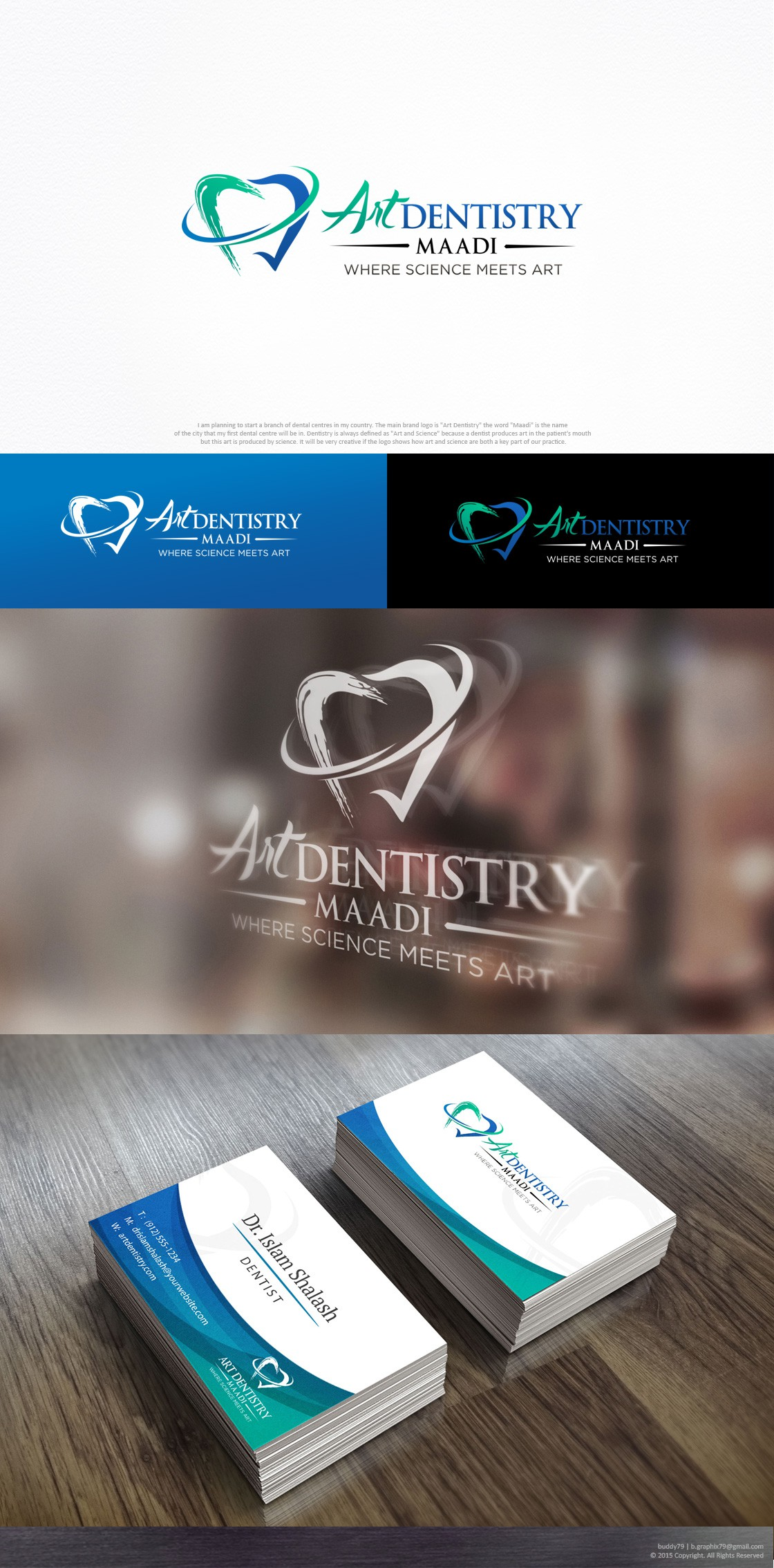 Create a catchy logo for a dental center.