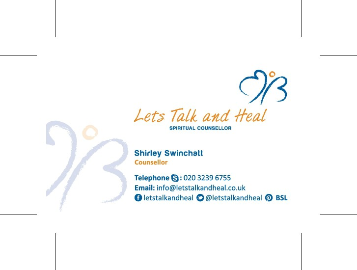 Letstalkandheal business card