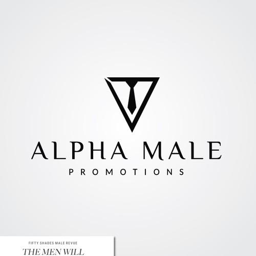 elegant logo for alpha male promotions