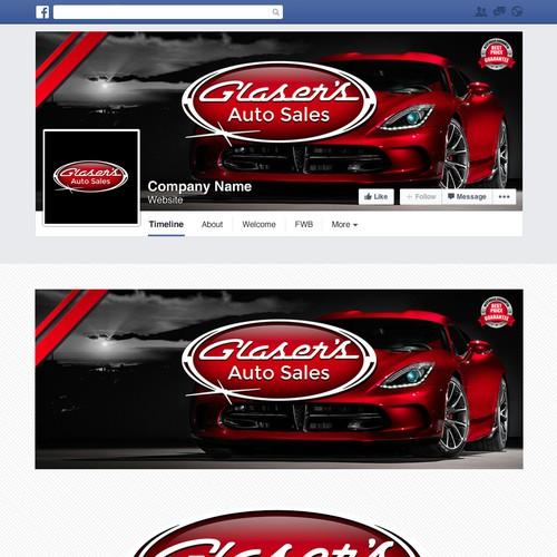 """Facebook横幅为""""汽车销售""""公司"""